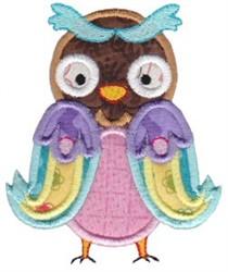Pretty Owl Applique embroidery design