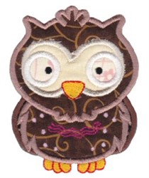 Little Owl Applique embroidery design
