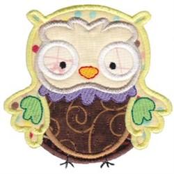 Yellow Owl Applique embroidery design