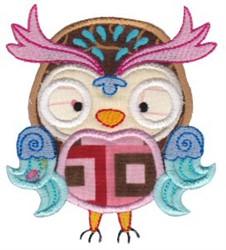 Fancy Owl Applique embroidery design