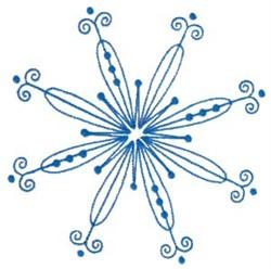 Swirly Snowflake embroidery design