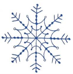 Pretty Winter Snowflake embroidery design