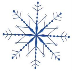 Decorative Winter Snowflake embroidery design