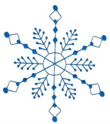 Snowflake Decor embroidery design