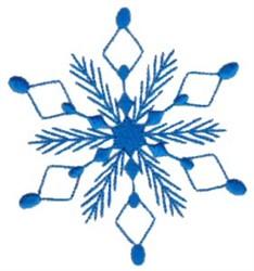 Diamond Snowflake embroidery design