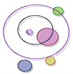 Dots & Circles embroidery design