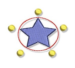 Star With Dots embroidery design