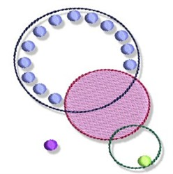 Concentric Circles & Dots embroidery design