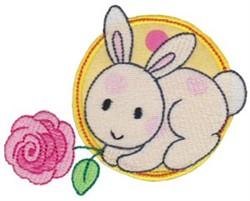 Applique Circle & Rabbit embroidery design