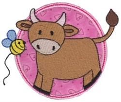 Applique Circle & Bull embroidery design