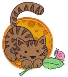 Applique Circle & Tiger embroidery design