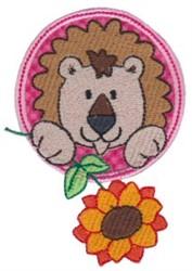 Applique Circle & Lion embroidery design