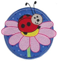 Applique Circle & Ladybug embroidery design