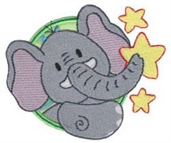 Applique Circle & Elephant embroidery design
