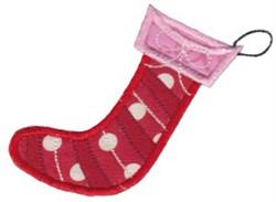 Retro Applique Christmas Stocking embroidery design