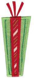 Retro Christmas Present Applique embroidery design