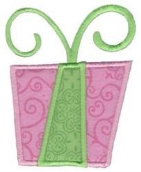 Retro Christmas Gift Applique embroidery design