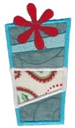 Retro Christmas Applique Gift embroidery design