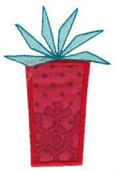 Retro Applique Christmas Present embroidery design