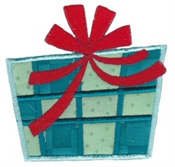 Retro Applique Christmas Gift embroidery design