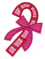 Retro Applique Candy Cane embroidery design
