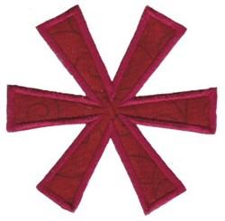 Retro Christmas Snowflake Applique embroidery design