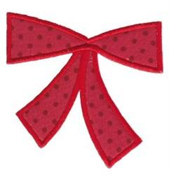 Retro Christmas Bow Applique embroidery design
