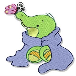 Cute Crocodile & Butterfly embroidery design