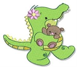Cute Crocodile & Teddy Bear embroidery design