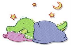 Cute Crocodile Sleeping embroidery design