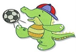 Crocodile Soccer Player embroidery design