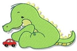 Crocodile & Toy Car embroidery design