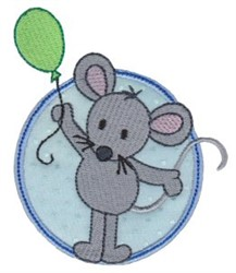 Applique Circle & Mouse embroidery design