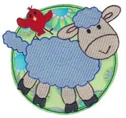 Applique Circle & Lamb embroidery design