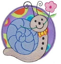 Applique Snail & Circle embroidery design
