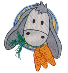 Applique Circle & Donkey embroidery design
