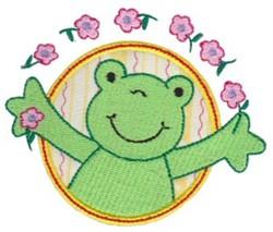 Applique Circle & Frog embroidery design