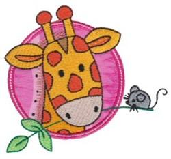 Applique Circle & Giraffe embroidery design