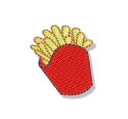 Mini French Fries embroidery design