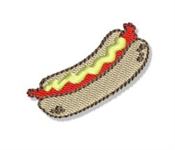 Mini Hot Dog embroidery design