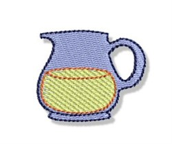 Mini Lemonade Pitcher embroidery design