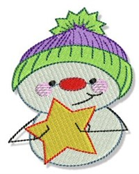 Star Snowman embroidery design