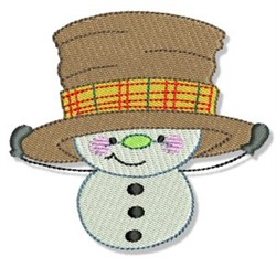 Big Hat Snowman embroidery design