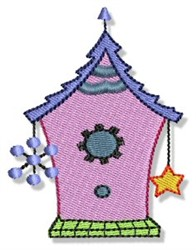 Snowflake Birdhouse embroidery design