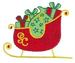 Christmas Sleigh embroidery design