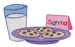 Snack For Santa embroidery design