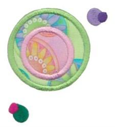 Circle Applique embroidery design