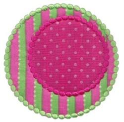Circles Applique embroidery design