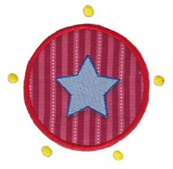 Star Circle Applique embroidery design