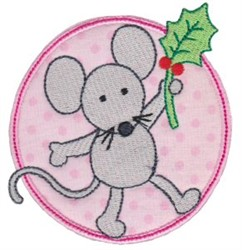Christmas Mouse embroidery design